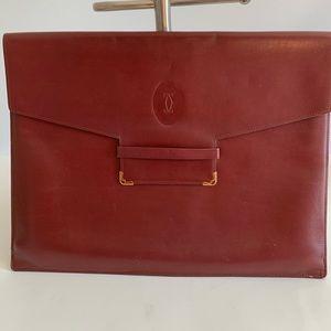 Vintage les must de Cartier envelope pouch